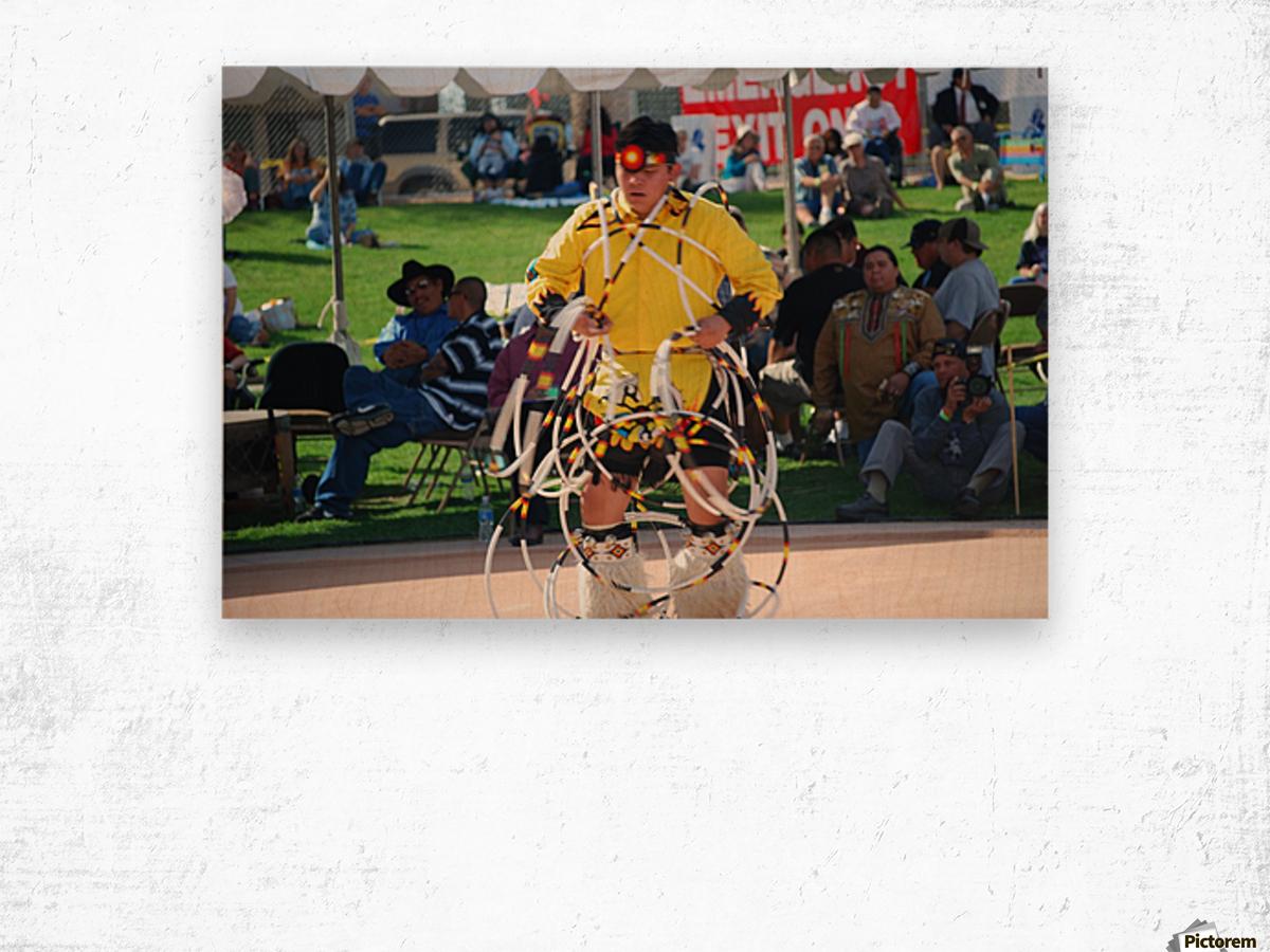 Hoop dance championships 2008  Wood print
