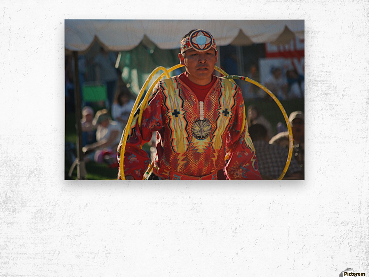 Native American Hoop dance championships 2008 Wood print