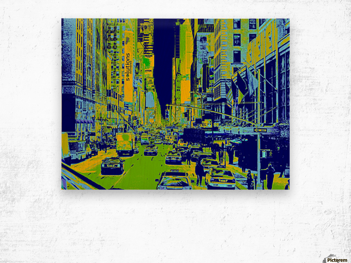 Madison Ave Wood print