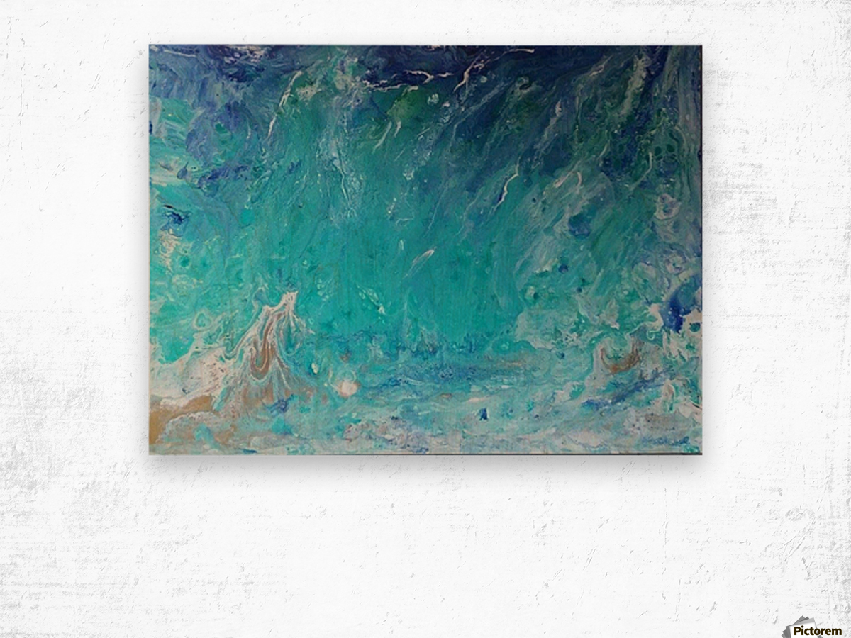 Wet an Abstract wave Wood print