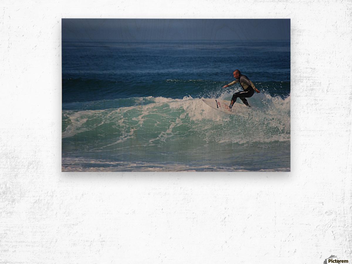 Surfer In California Wood print