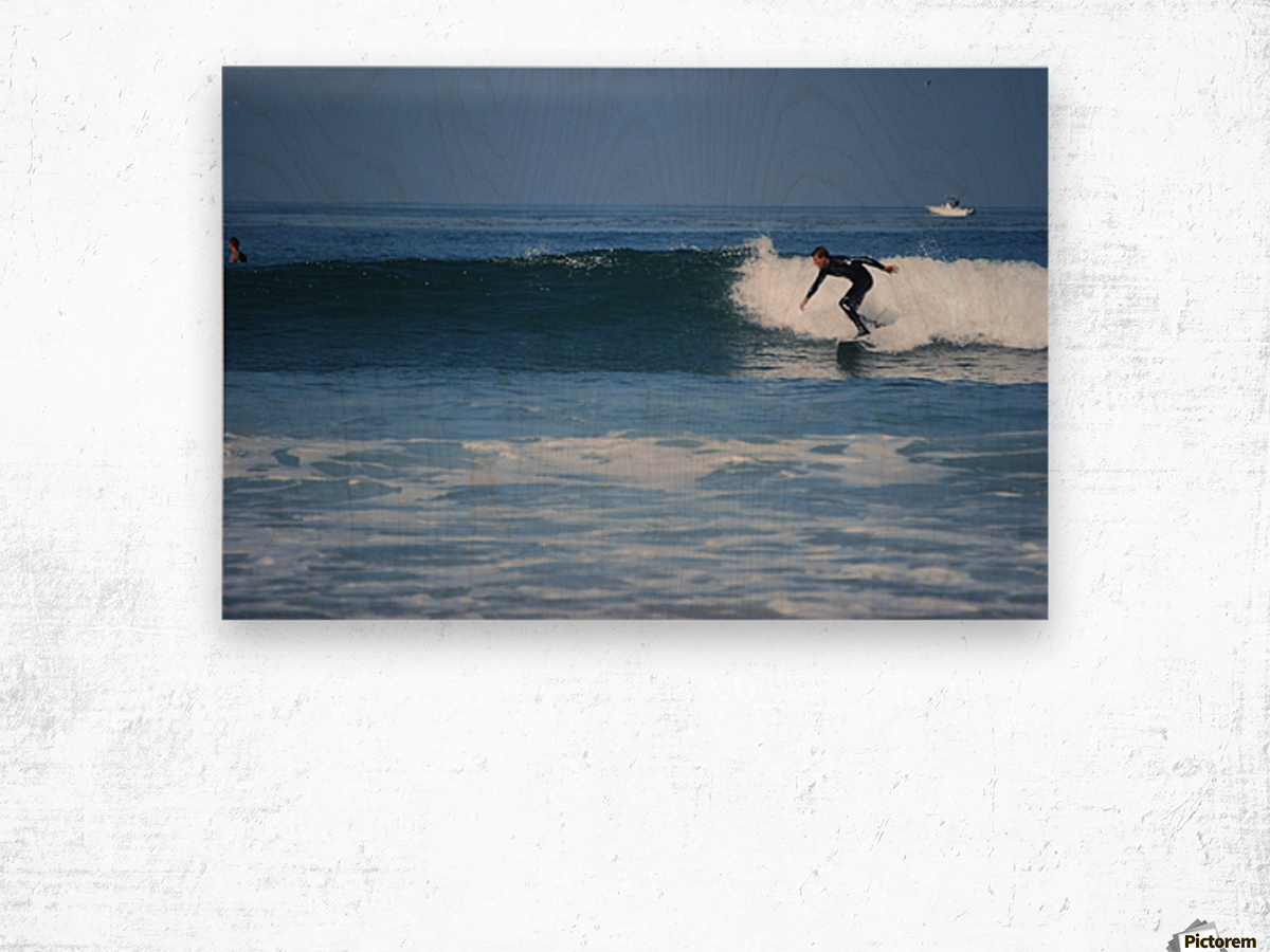 Califonia surfer Wood print