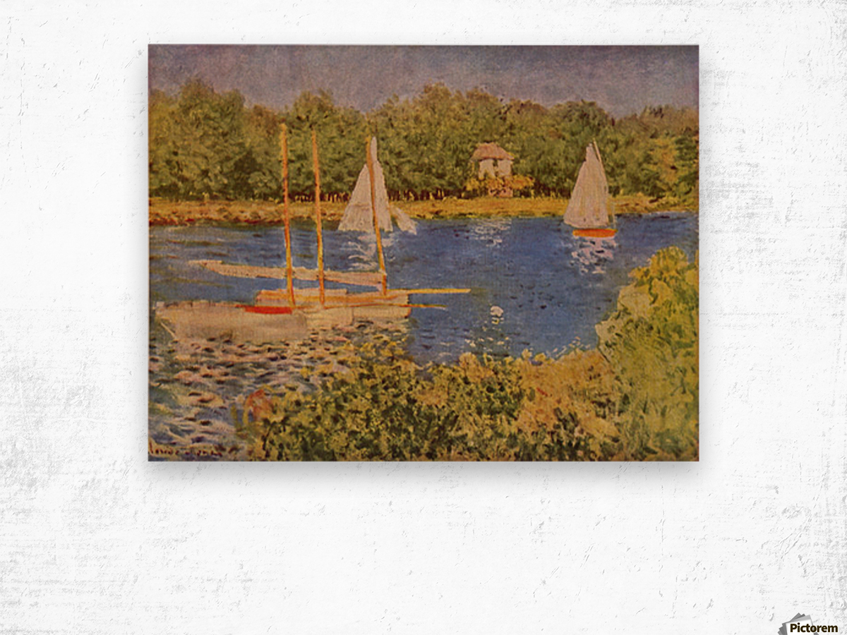 The Seine at Argenteuil Basin by Monet Wood print