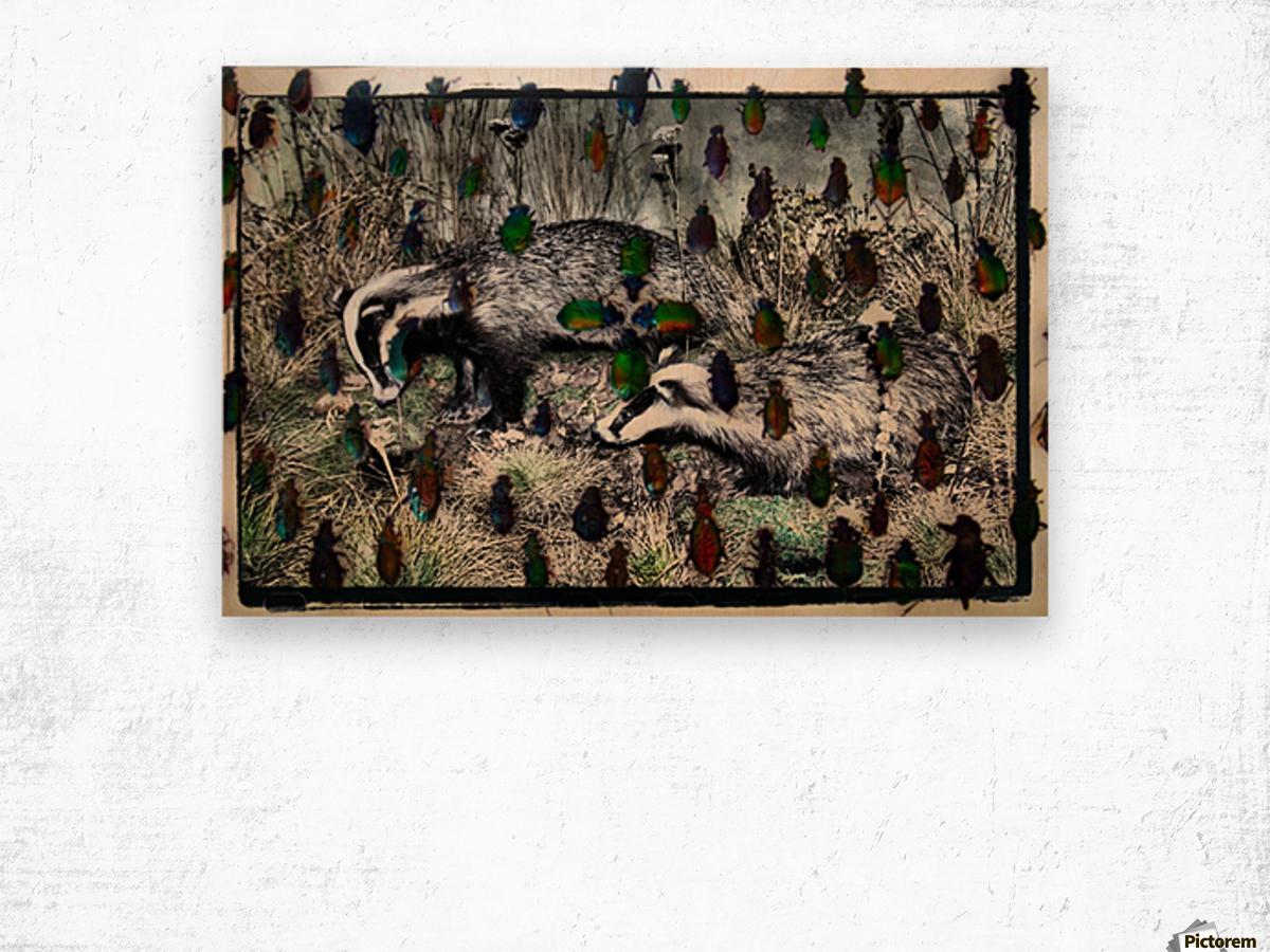 Collage Wood print