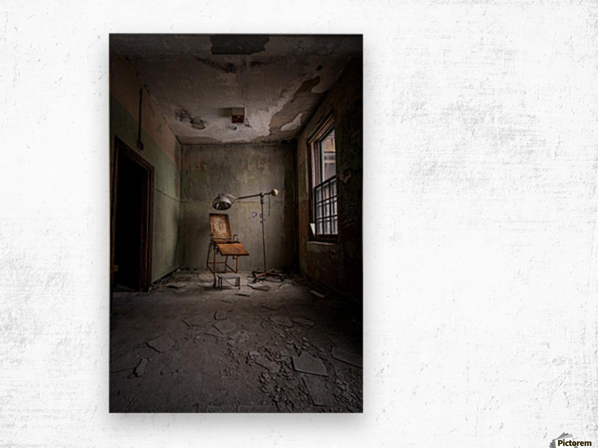 Abandoned Asylum Wood print