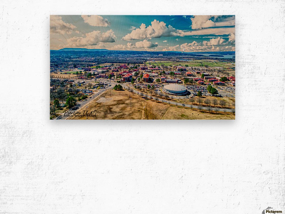 Russellville, AR | ATU Campus Wood print