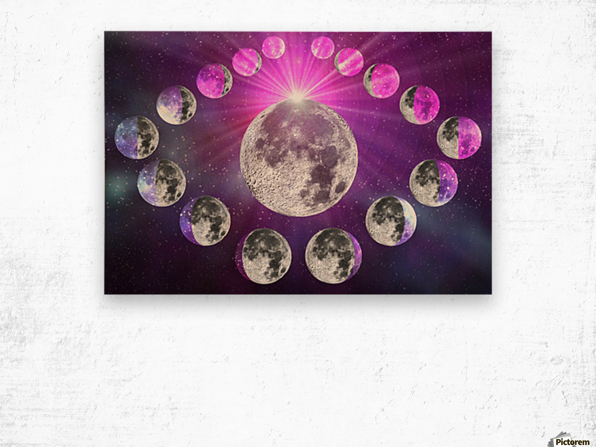 Multi-phase Moonlight Wood print