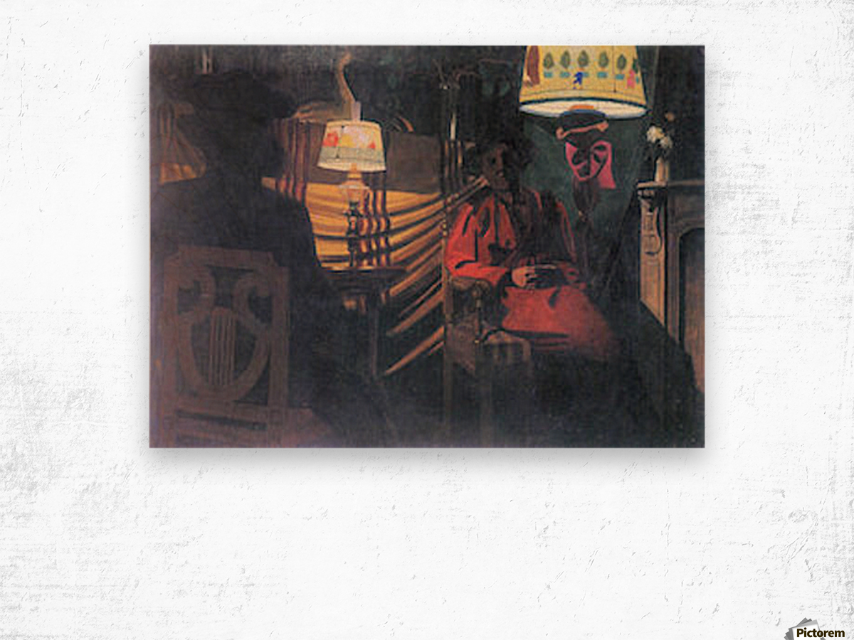 The visit -1- by Felix Vallotton Wood print