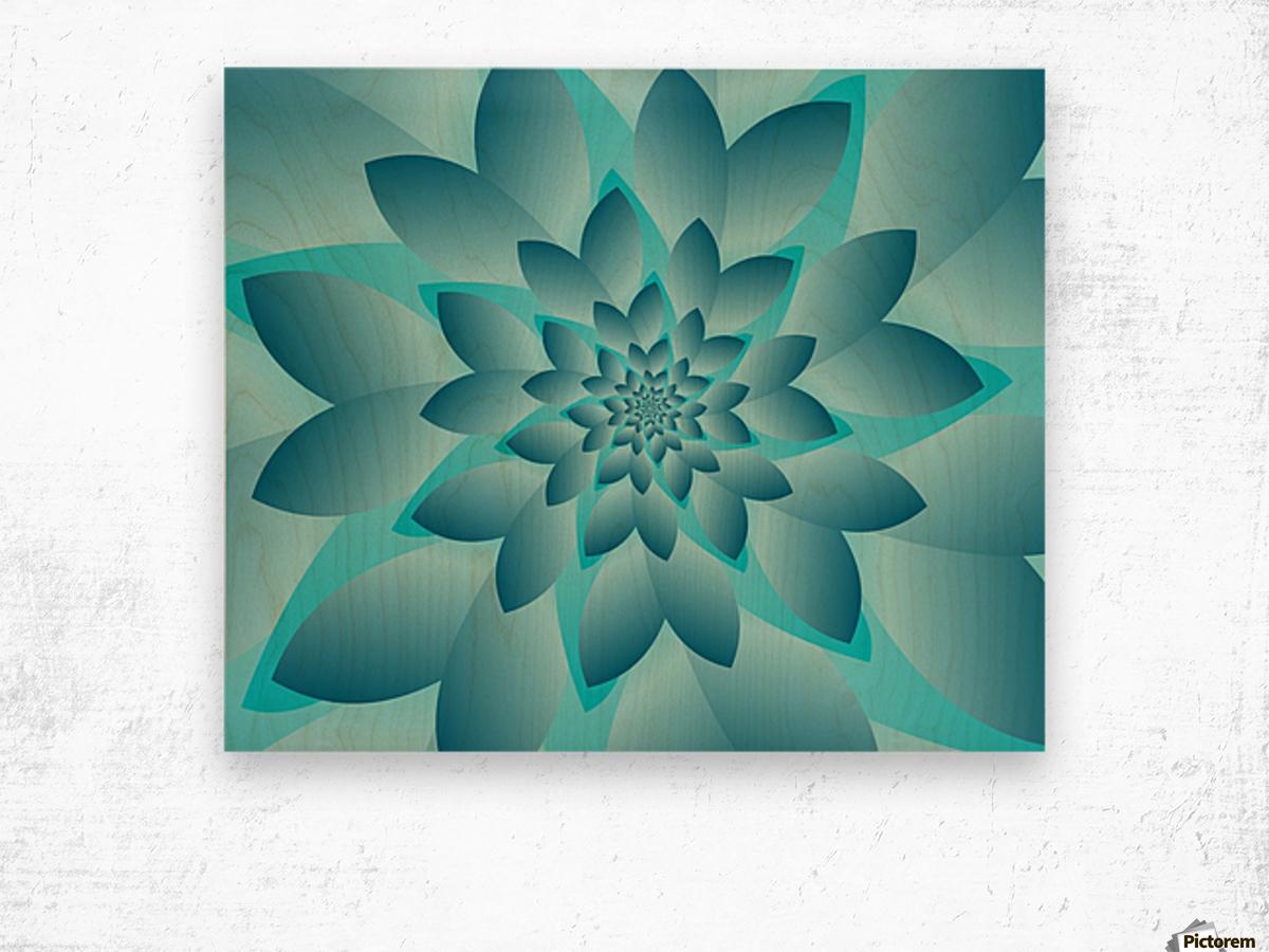 Modern Optical Illusion Floral Art Wood print