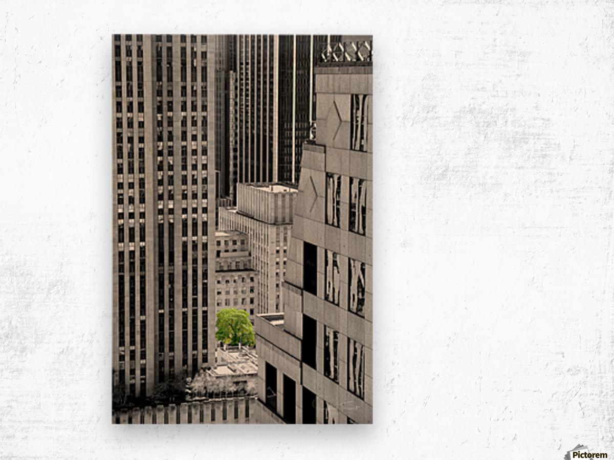 Forêt urbaine Wood print