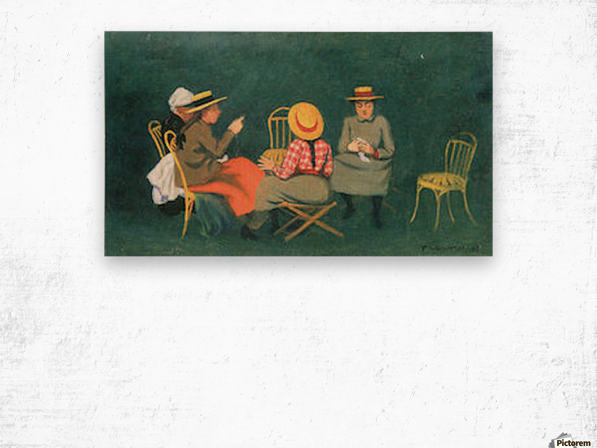 The women by Felix Vallotton Wood print