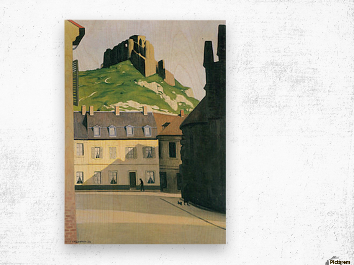 Town square in Andlys by Felix Vallotton Wood print