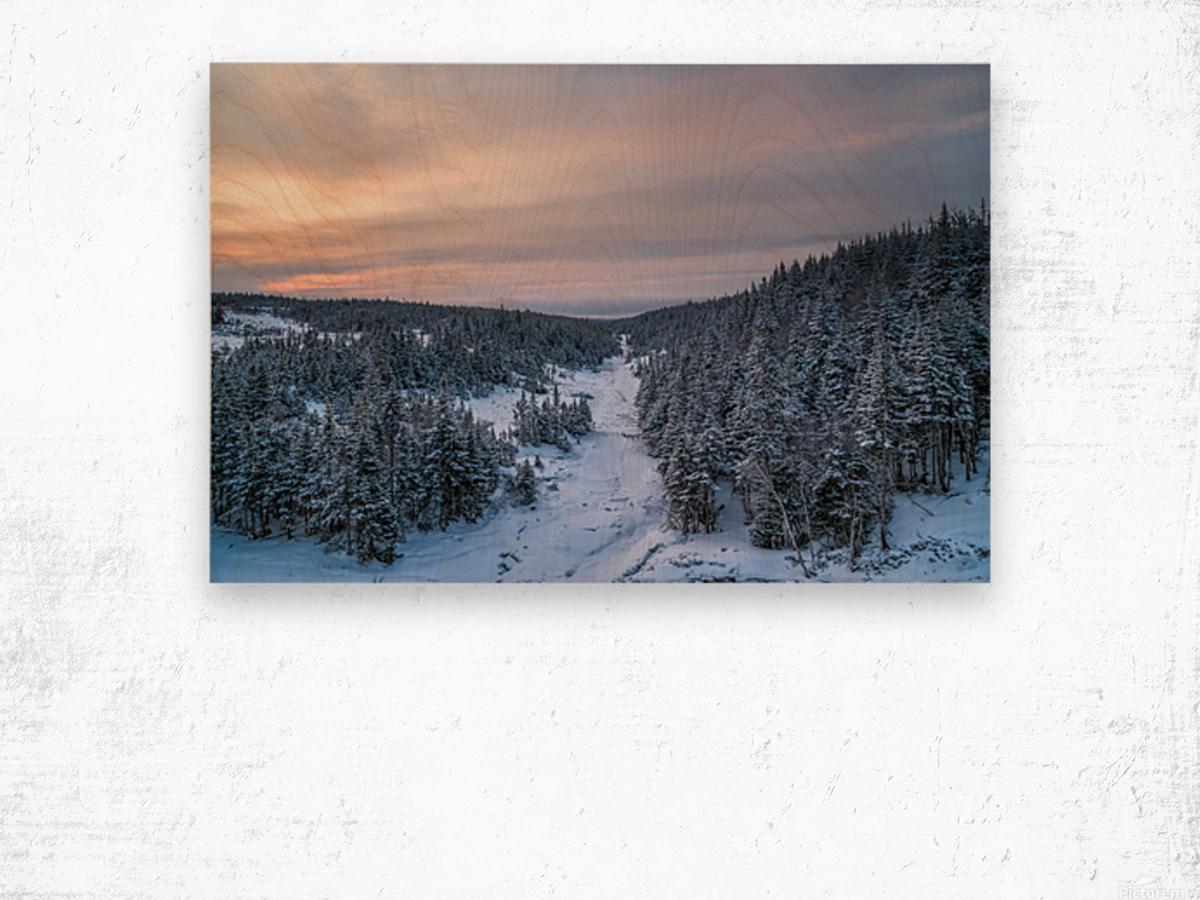 Dawn at Fishing Cove River Wood print