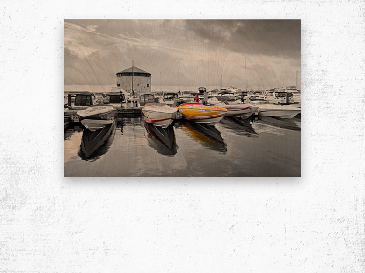 Cigarette Boats Wood print