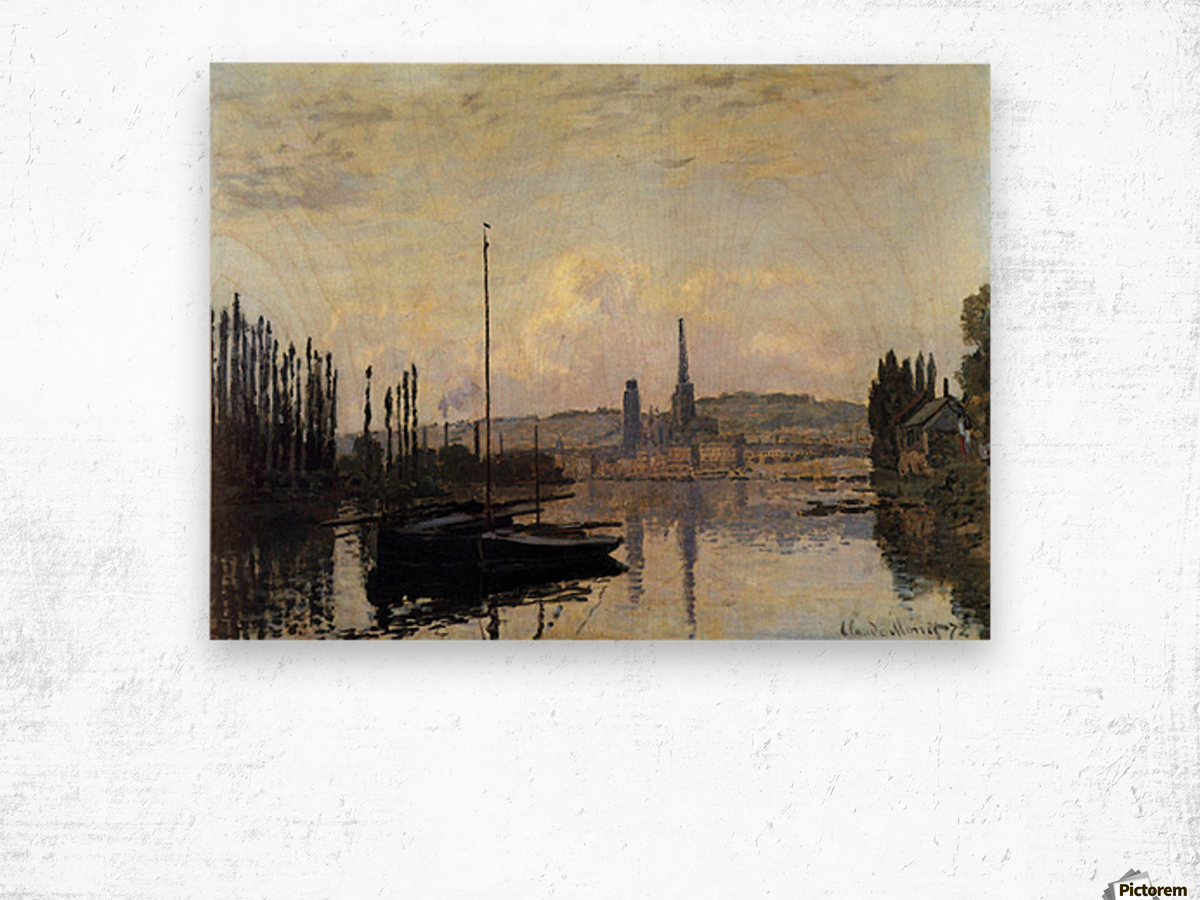 View of Rouen by Monet Wood print