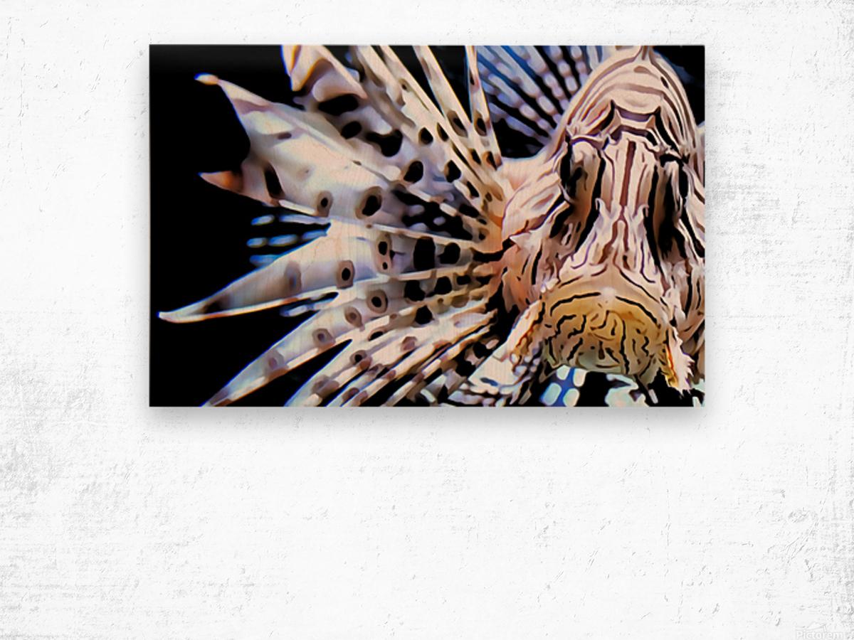 Lion Fish Wood print