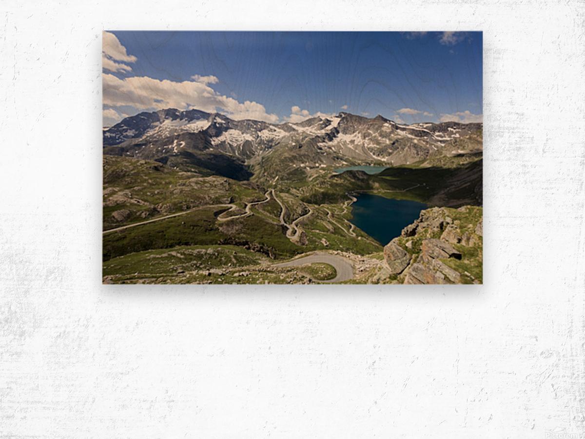 Landscape of Gran Paradiso Wood print