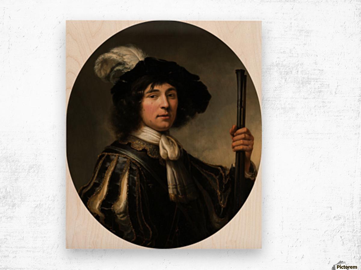 Portret van een jonge man Wood print