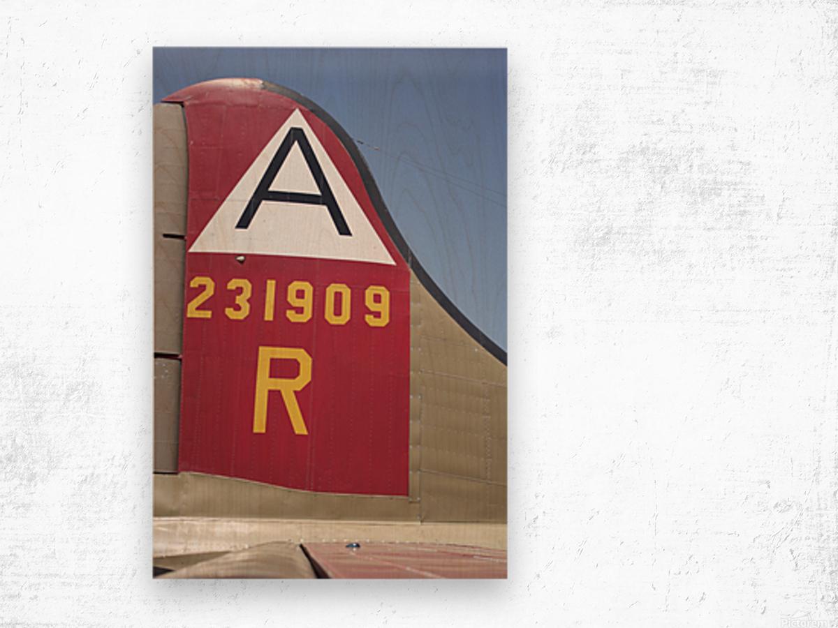 B-17 Tail Wood print