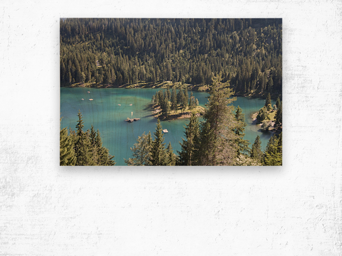 Lake of Cauma Wood print