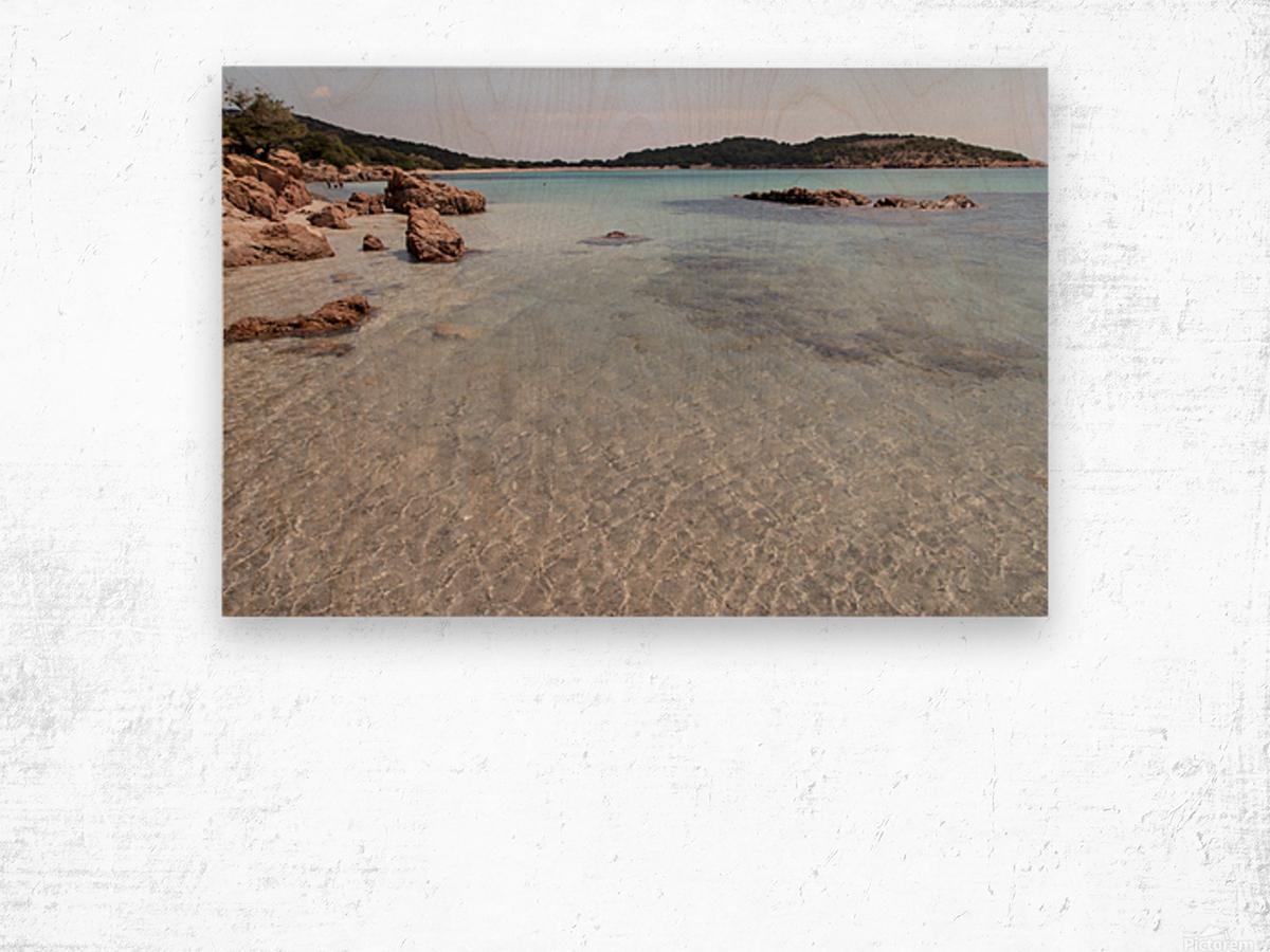 Rondinara beach in Corse Wood print