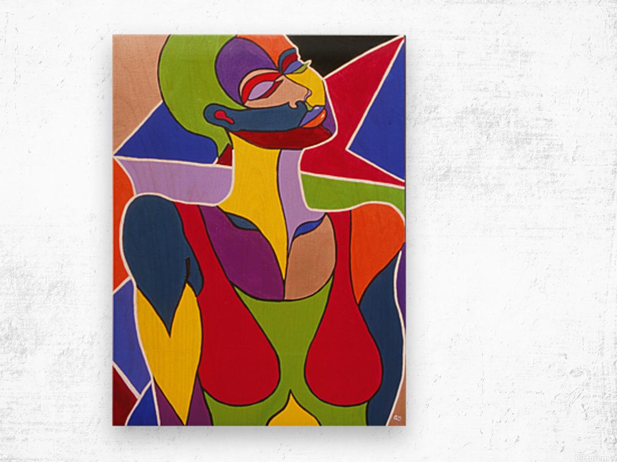 Cosmic Woman  Wood print