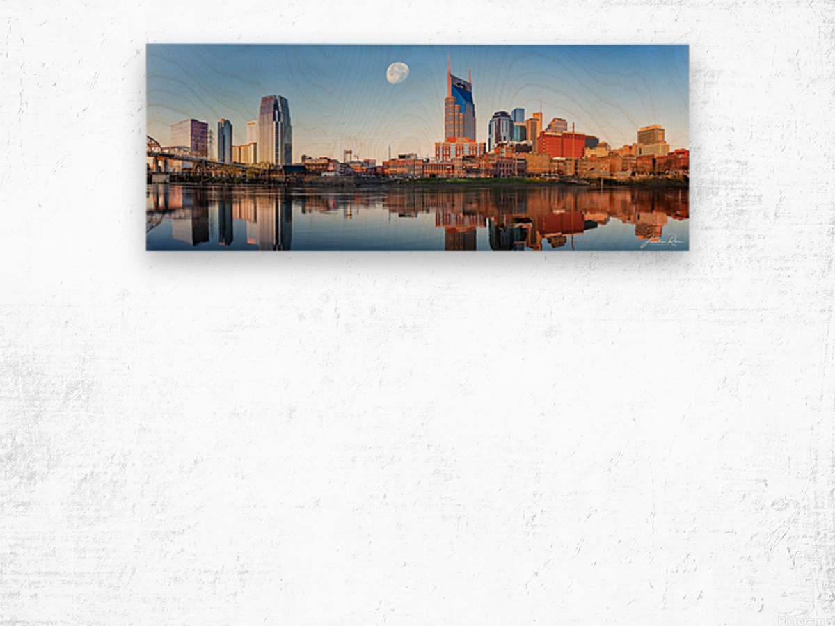 Nashville Skyline in the morning Wood print