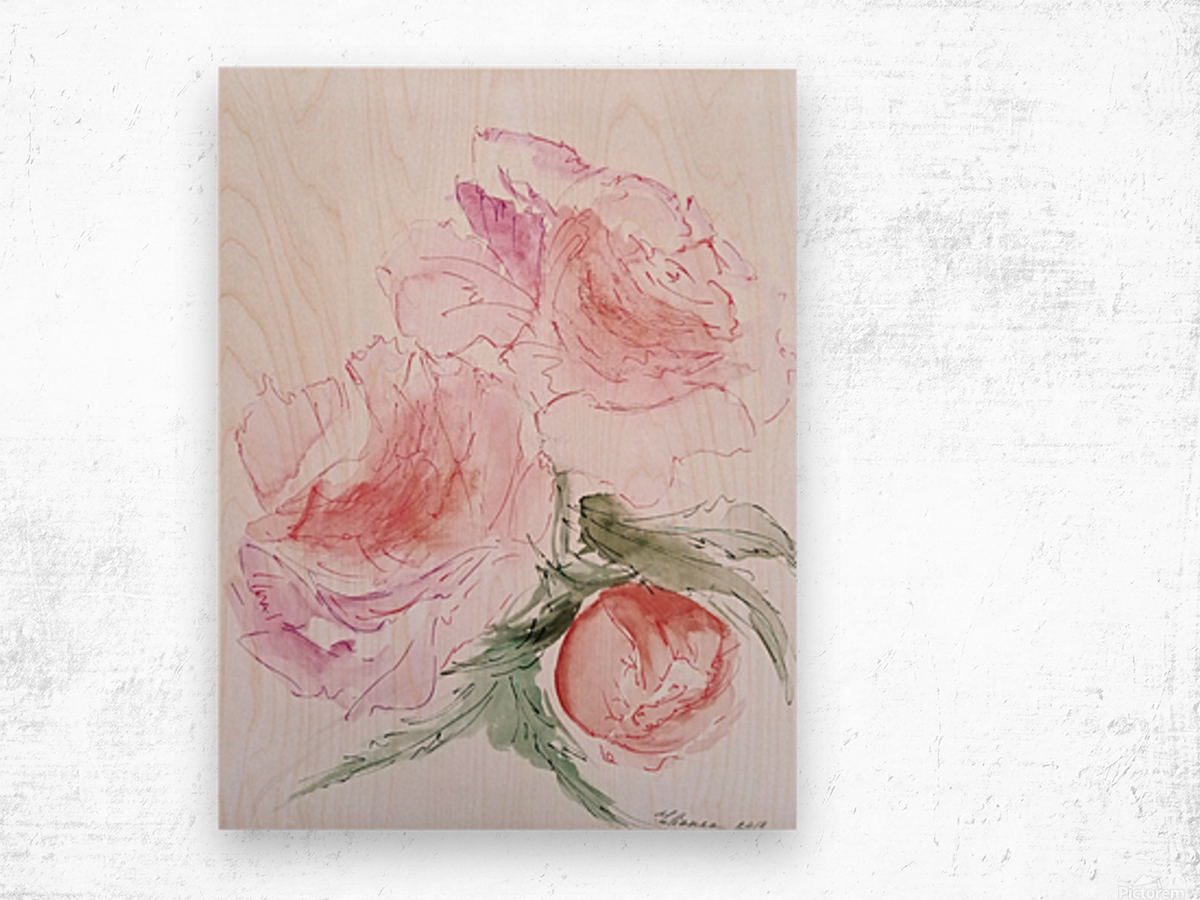 Flowers of Happiness Wood print