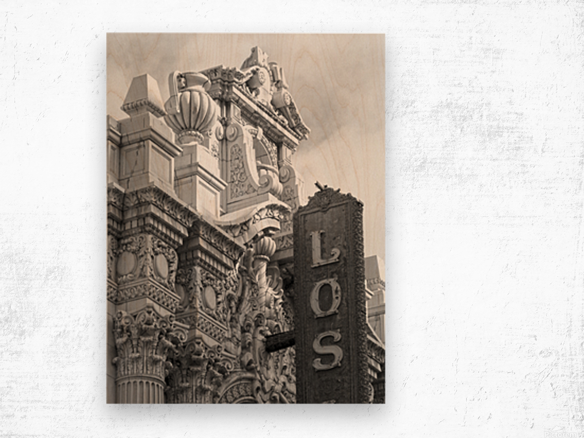 Details Los Angeles Theatre - B&W Wood print