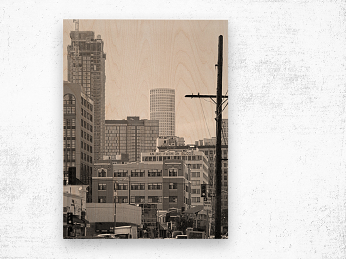 DTLA Near 8th & San Pedro Wood print