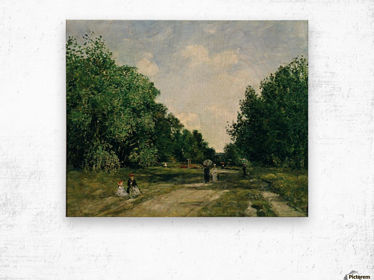 Parc Cordier in Trouville Wood print
