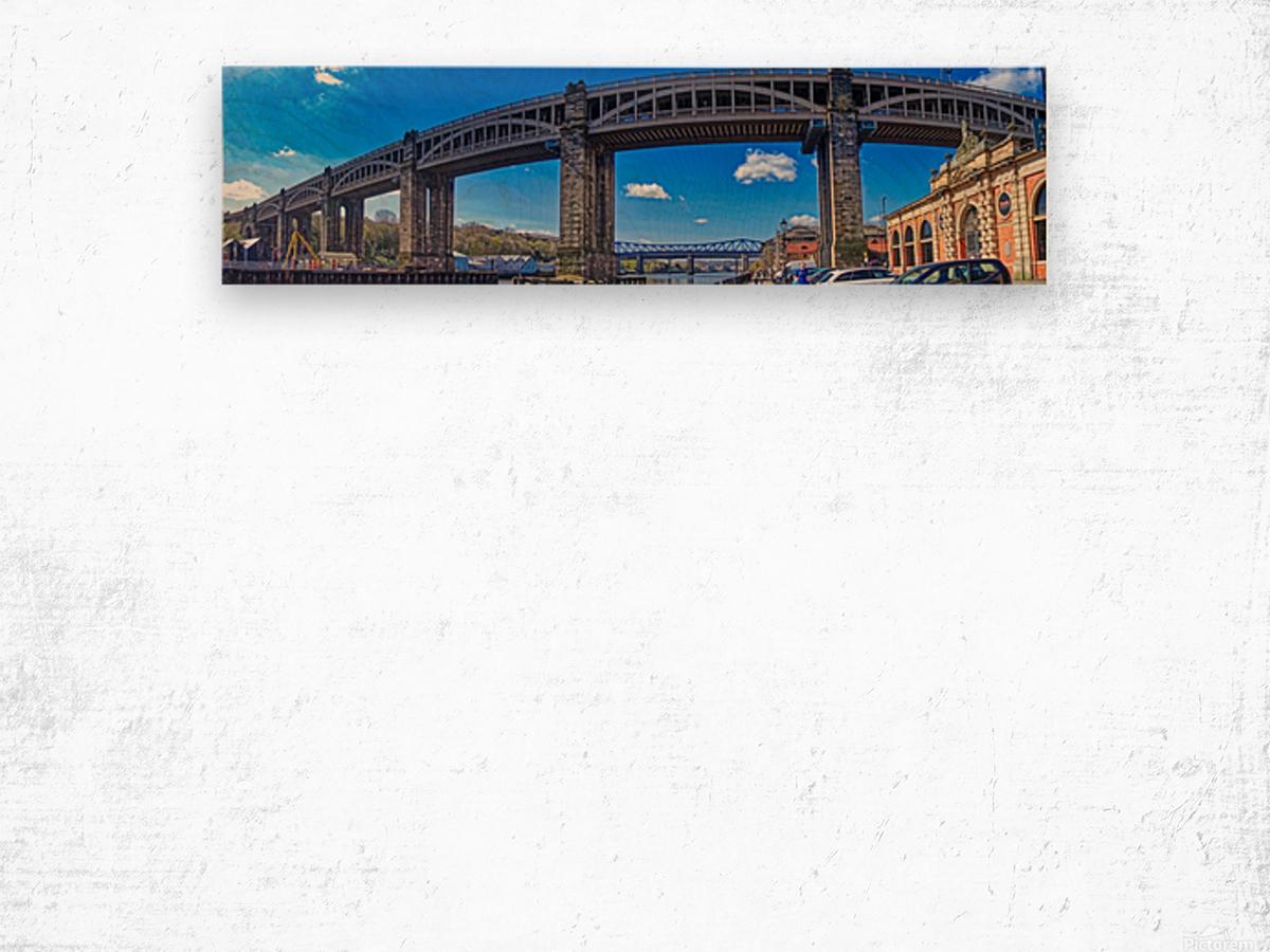 Newcastle railway bridge Impression sur bois