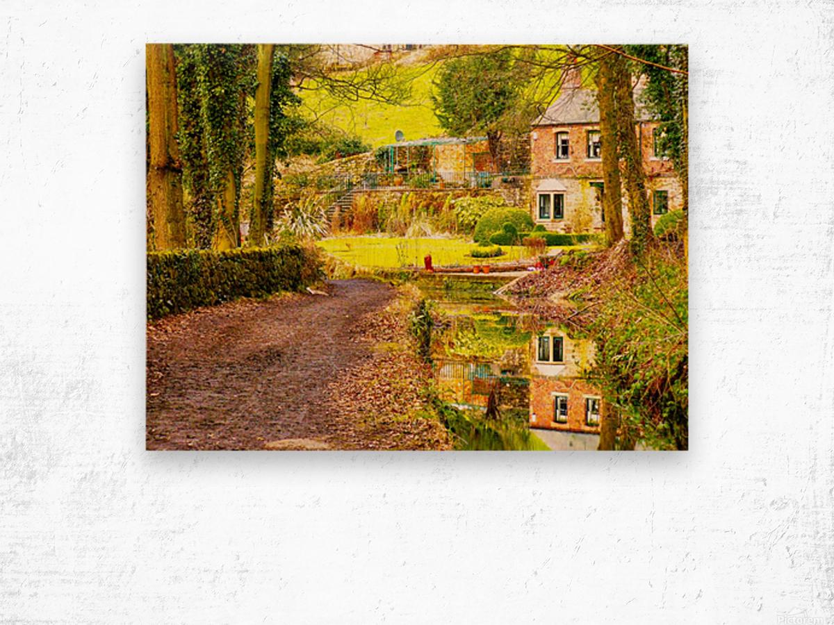Reflective canal corner Wood print