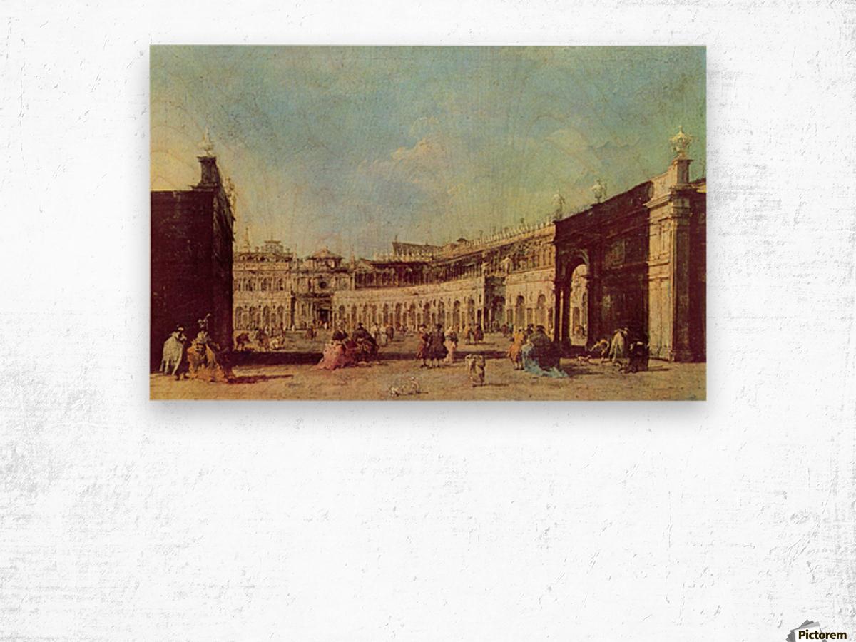 Piazza San Marco a Venezia, dal lato opposto alla basilica Wood print
