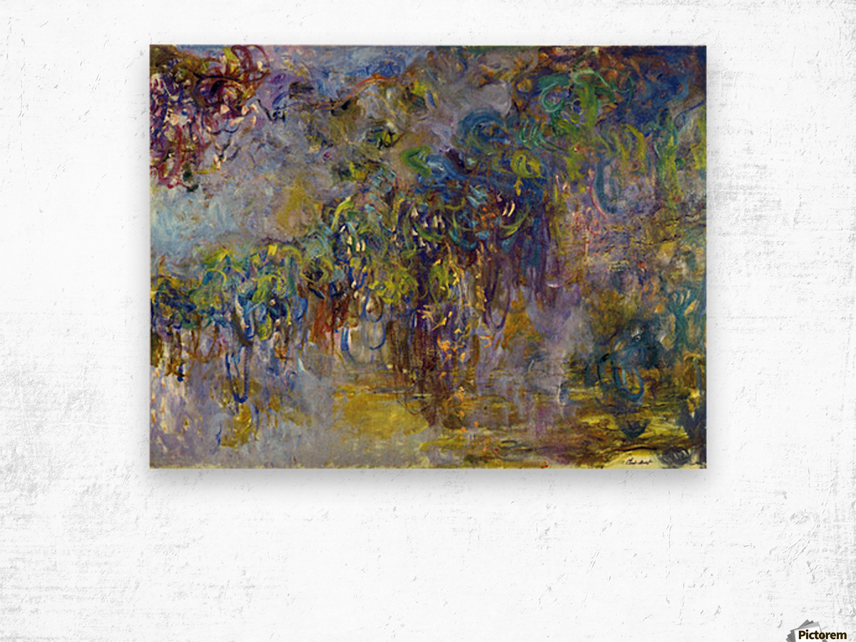 Wisteria -2- by Monet Wood print
