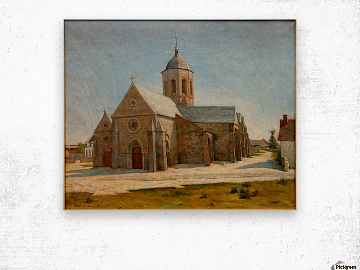 Dunkerque musee BA lesidaner etaple eglise Wood print