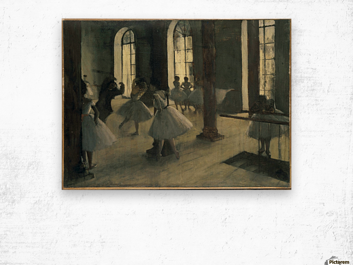 La Repetition au foyer de la danse Wood print
