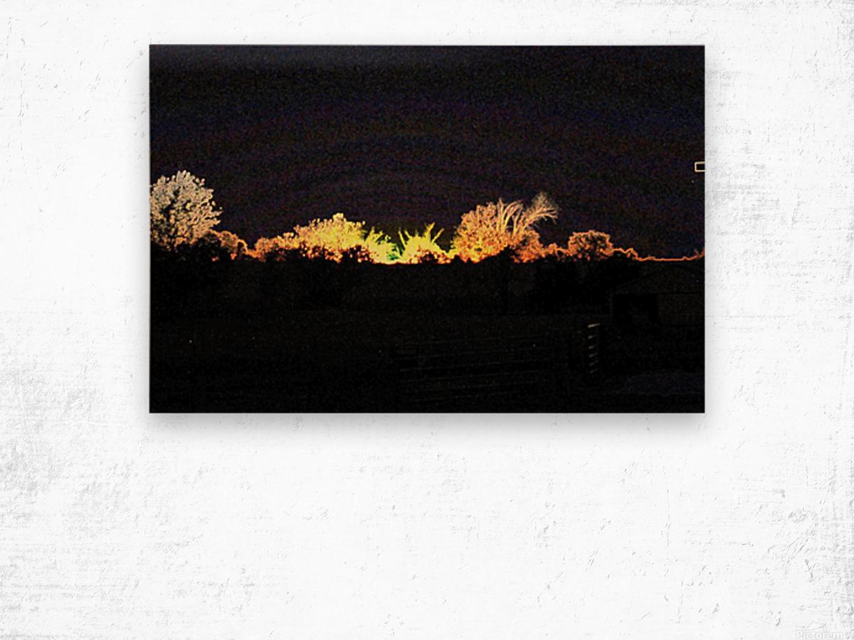 I Dreamed A Sunset Wood print