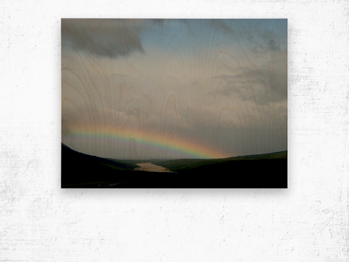 Rainbow at Thousand Smokes Wood print