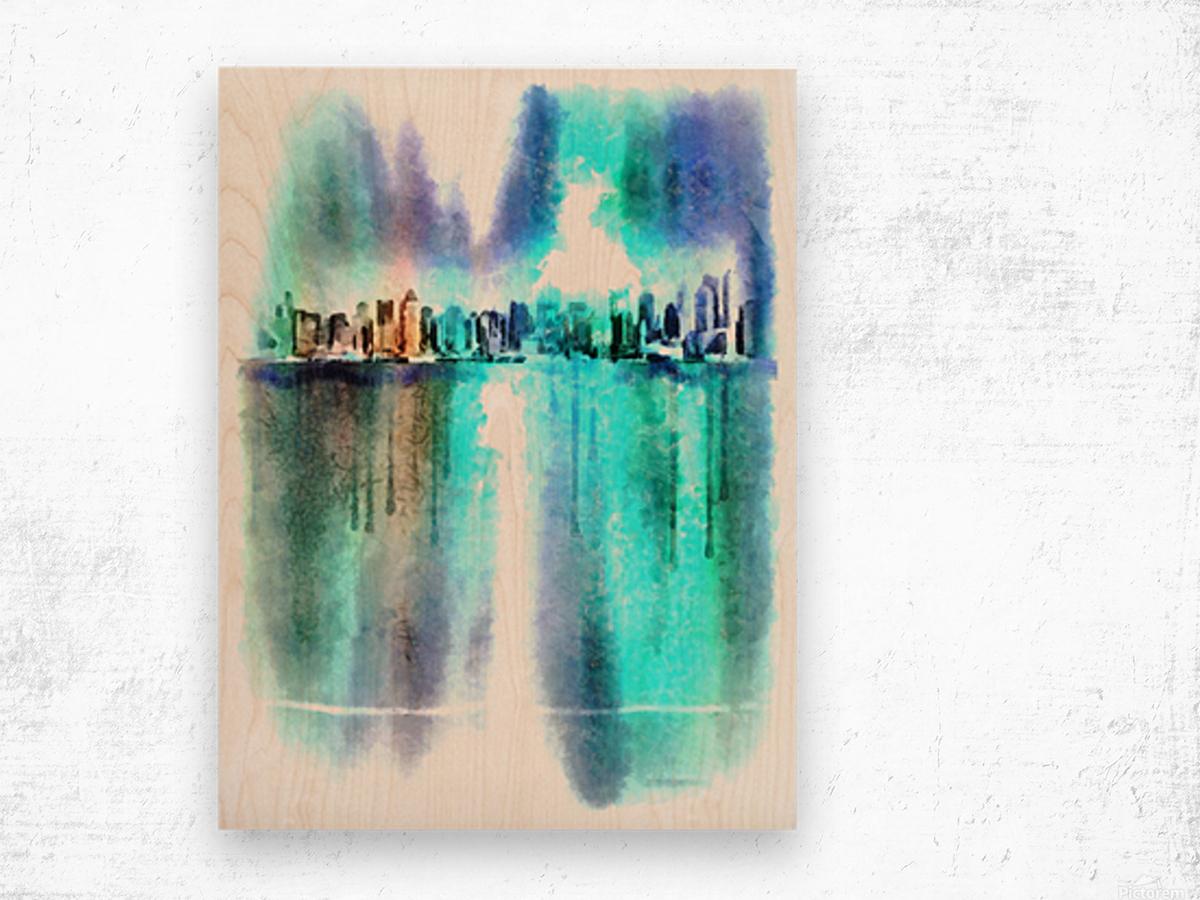 Manhattan Wood print