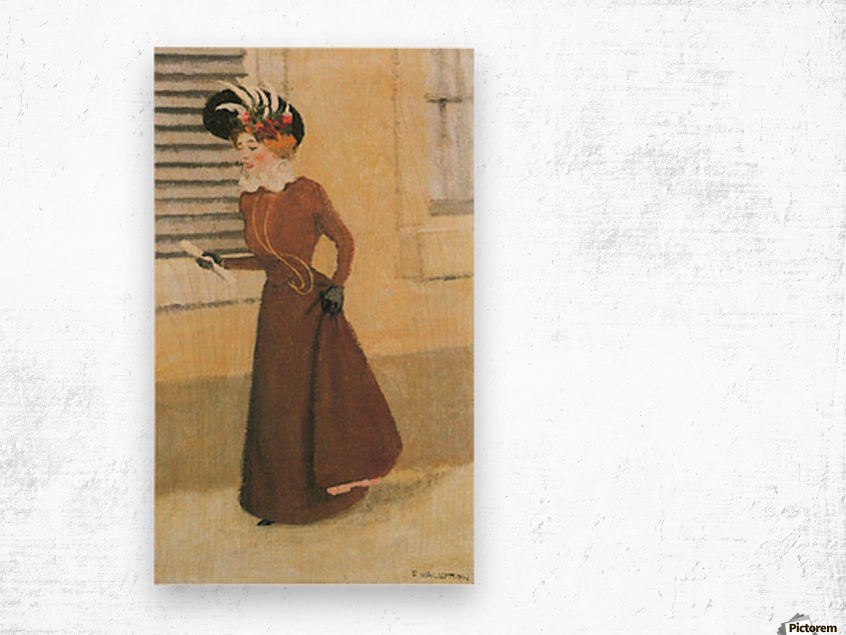 Woman with hat by Felix Vallotton Wood print