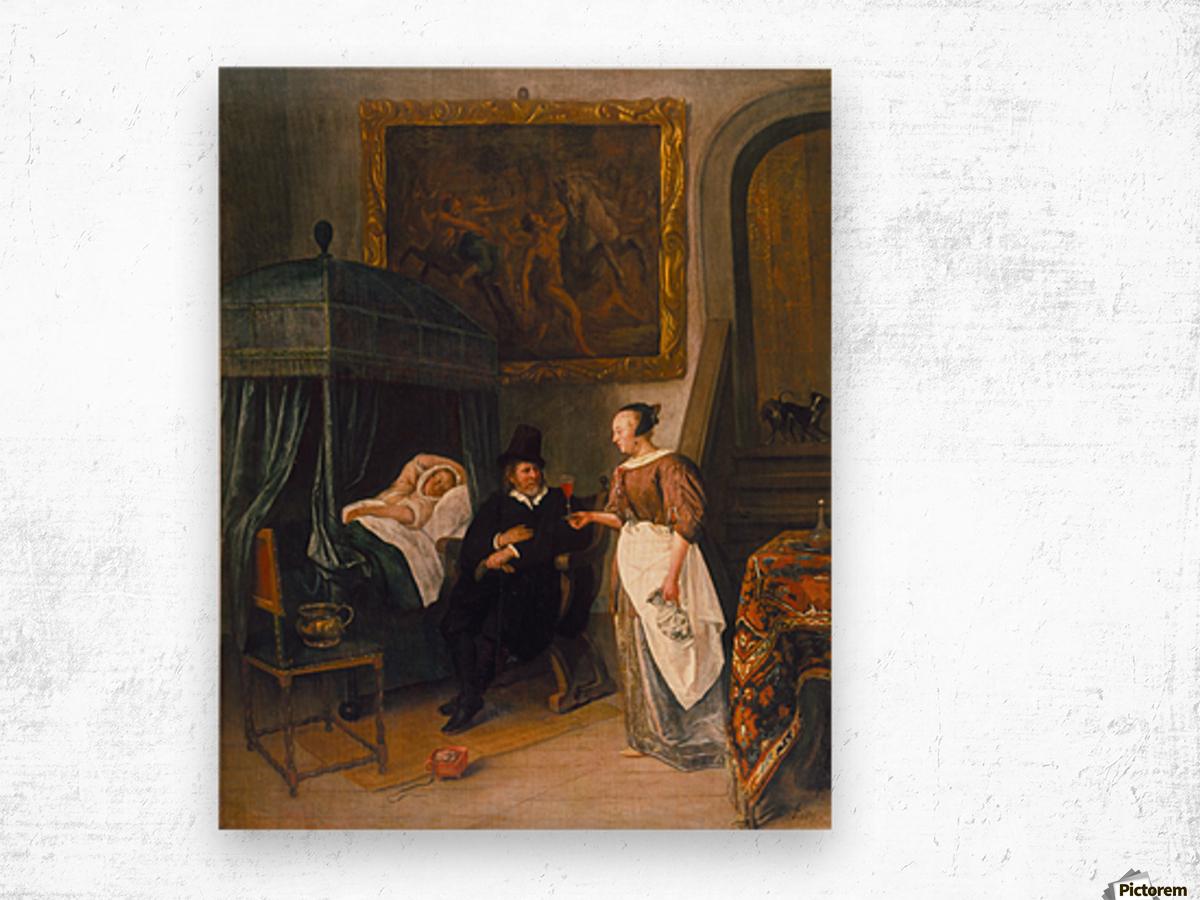 The Doctor's Visit 1660 Impression sur bois