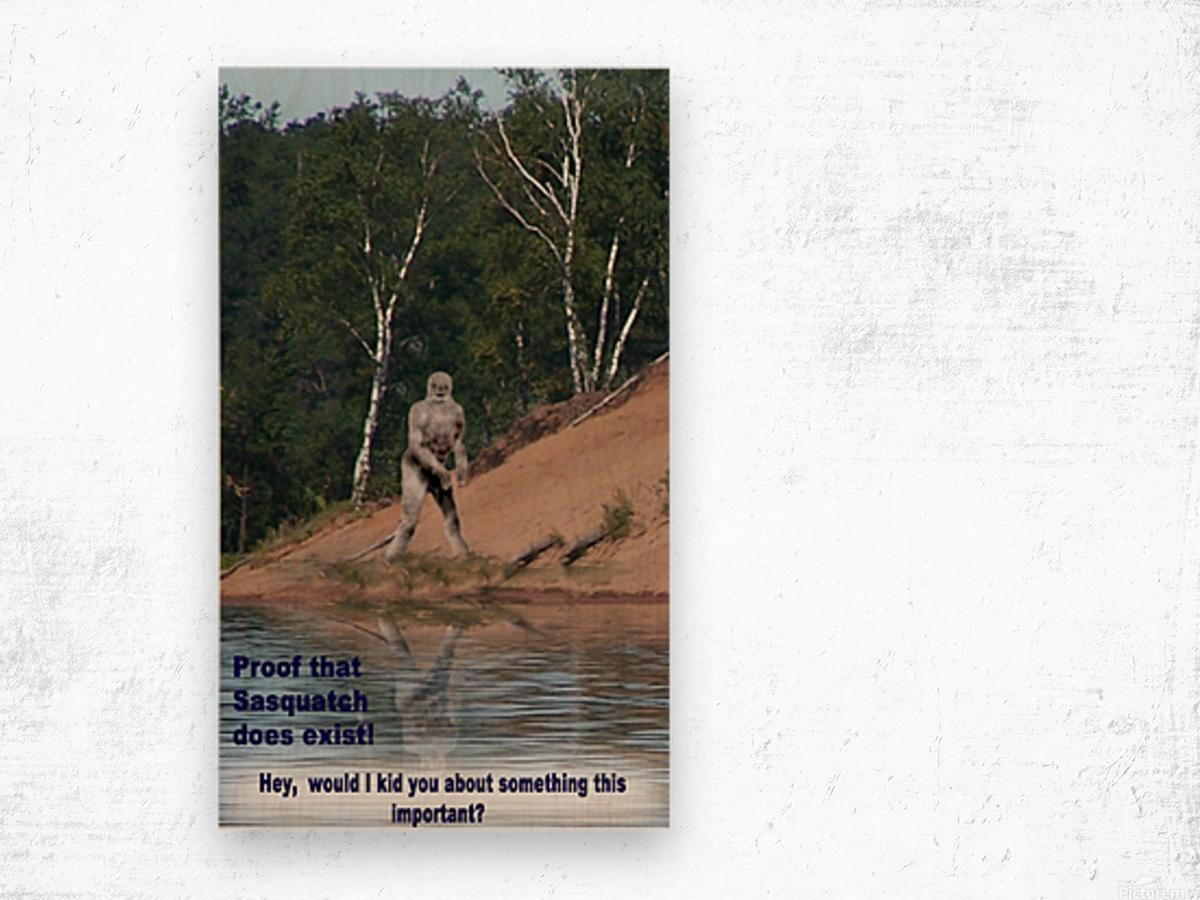 Sasquatch1 Impression sur bois