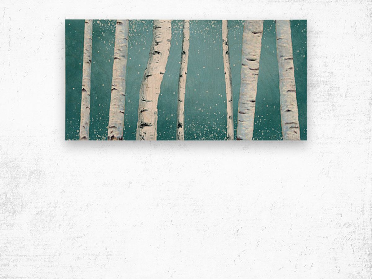 birch tree Wood print