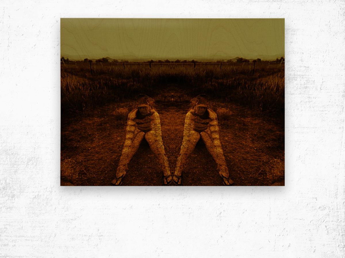 A (2) Wood print