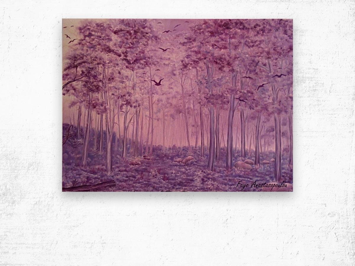 Purple Woods Wood print