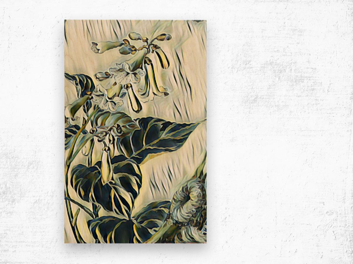 Flower_Lily Wood print