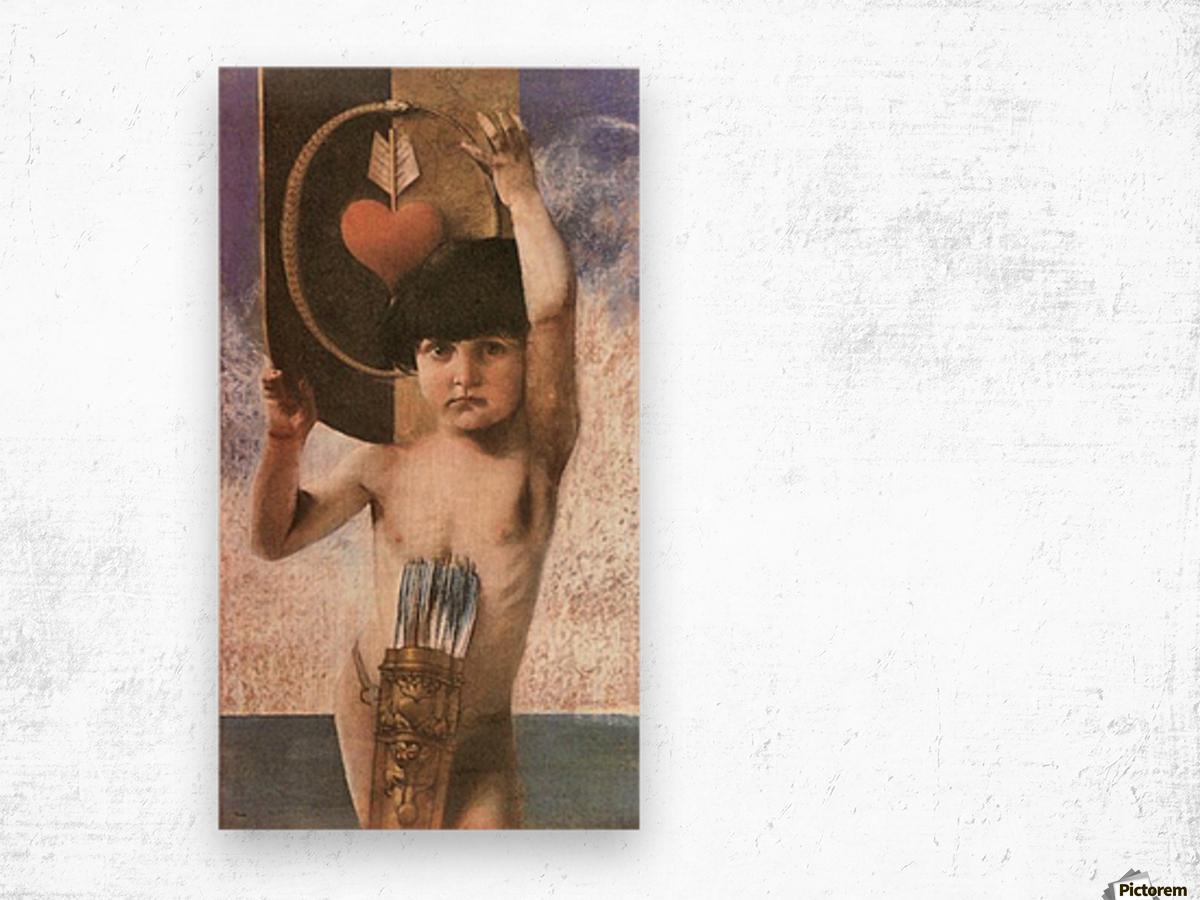 Amor by Franz von Stuck Wood print