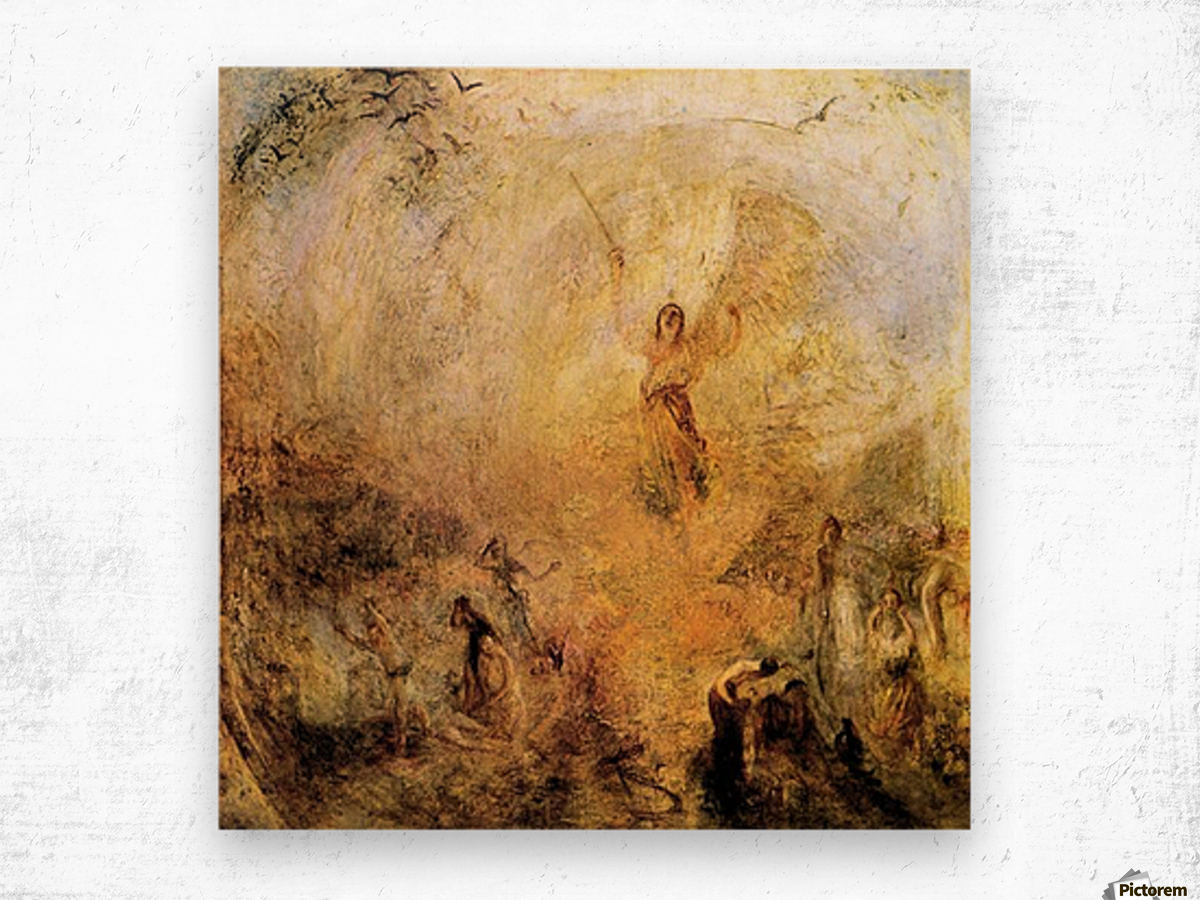 Angel in the sun by Joseph Mallord Turner Wood print