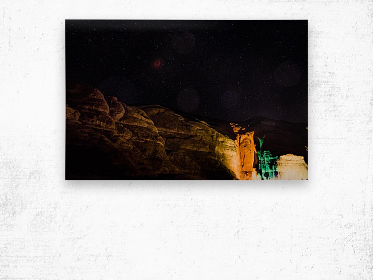 Starry Night - Al-Ula Monuments Saudi Arabia Wood print